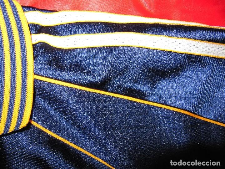 Coleccionismo deportivo: Camiseta R.Madrid ADIDAS publicidad Teka talla S original azul - Foto 9 - 179242693