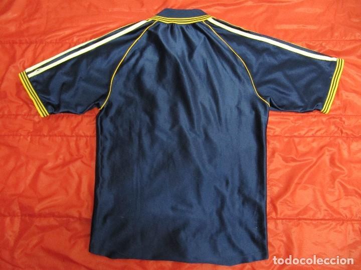 Coleccionismo deportivo: Camiseta R.Madrid ADIDAS publicidad Teka talla S original azul - Foto 2 - 179242693