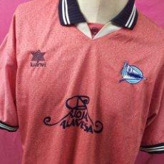 Coleccionismo deportivo: RARA CAMISETA FUTBOL ORIGINAL LUANVI - DEPORTIVO ALAVES TEMP. 2000-2001. TALLA XXL. Lote 179309790