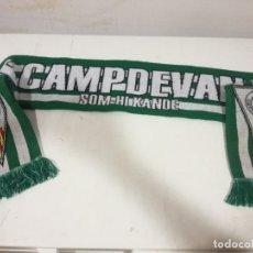 Collezionismo sportivo: UE CAMPDEVANOL FLAG BANDERA BUFANDA SCARF FOOTBALL FUTBOL. Lote 179608142
