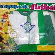 Coleccionismo deportivo: EQUIPACION REAL BETIS BALOMPIE AÑOS 70 / 80 MERCURY INFANTIL NIÑO 5 O 6 AÑOS APROX. Lote 180290827