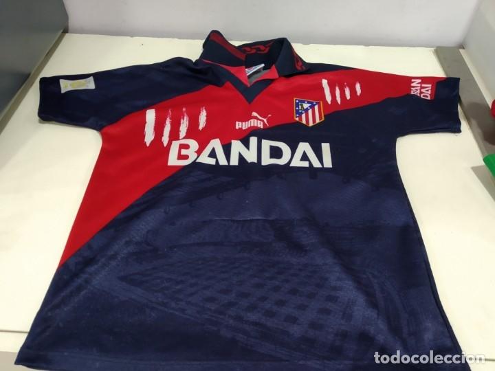 ANTIGUA CAMISETA ATLETICO MADRID PUMA BANDAI TALLA 8 (Coleccionismo Deportivo - Ropa y Complementos - Camisetas de Fútbol)