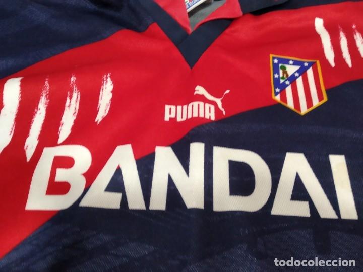 Coleccionismo deportivo: ANTIGUA CAMISETA ATLETICO MADRID PUMA BANDAI TALLA 8 - Foto 2 - 232249955