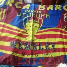 Coleccionismo deportivo: FC BARCELONA WEMBLEY 1992 MUSEUM FINAL FLAG BANDERA SCARF BUFANDA FOOTBALL FUTBOL SCIARPA. Lote 181470205