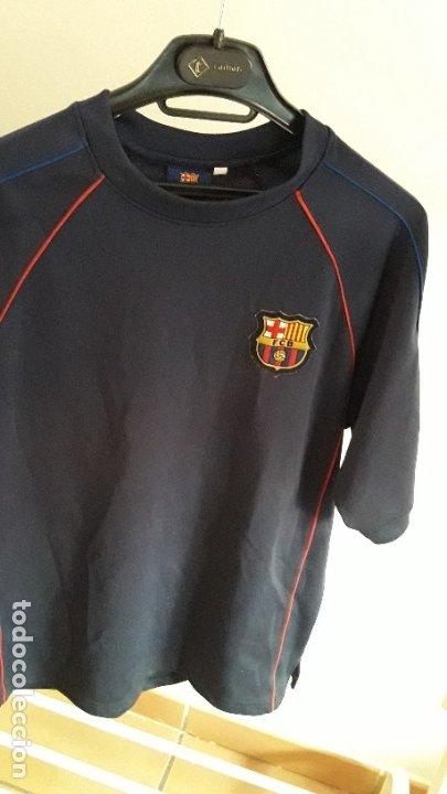 CAMISETA FCB BARCELONA / PRODUCTO OFICIAL / TIPOGRAFÍA EN REVERSO / TALLA M (Coleccionismo Deportivo - Ropa y Complementos - Camisetas de Fútbol)