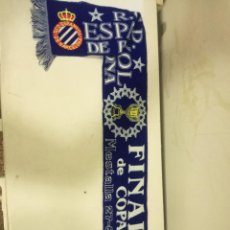Coleccionismo deportivo: RCD ESPANYOL FINAL COPA BUFANDA SCARF FOOTBALL FUTBOL. Lote 183723487