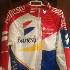 Coleccionismo deportivo: JACKET INDURAIN TEAM BANESTO VINTAGE CYCLING CHAQUETA CICLISMO CICLISTA LEGEND M RETRO . Lote 188681137