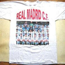 Coleccionismo deportivo: CAMISETA REAL MADRID CF PLANTILLA EQUIPO 91-92 ? A ESTRENAR TALLA XXL T-SHIR MAILLOT CAMICIA. Lote 191168747