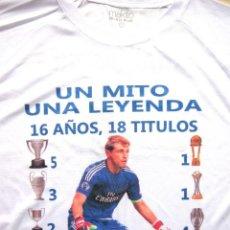 Coleccionismo deportivo: CAMISETA REAL MADRID CF GRACIAS IKER CASILLAS POLIESTER TALLA -L- T-SHIR MAILLOT CAMICIA R. Lote 207156700