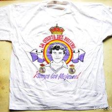 Coleccionismo deportivo: CAMISETA REAL MADRID EMILIO BUTRAGUEÑO ORIGINAL AÑOS' 80 TALLA XL T-SHIR MAILLOT CAMICIA. Lote 191169076