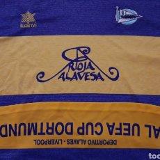 Coleccionismo deportivo: CAMISETA CD ALAVES FINAL DE DORTMUND FINAL UEFA 2001. Lote 192105748