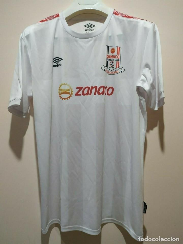 CAMISETA CASA MATCHWORN ZANACO FC ZAMBIA 19/20 NAKENA TALLA XL (Coleccionismo Deportivo - Ropa y Complementos - Camisetas de Fútbol)