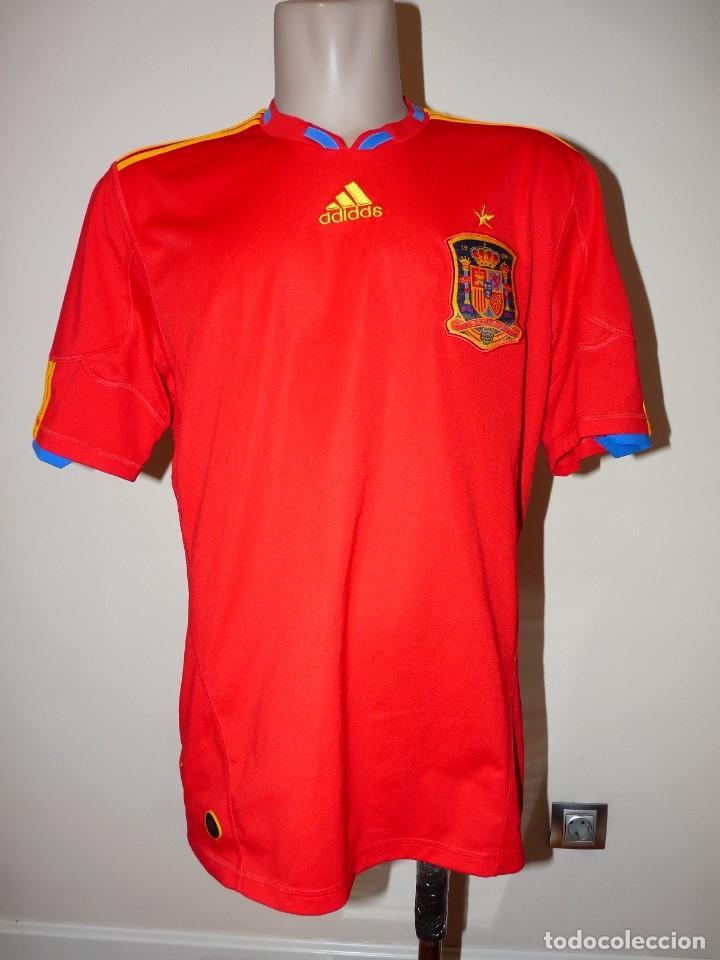 CAMISETA SELECCION DE ESPAÑA ADIDAS PIQUÉ (Coleccionismo Deportivo - Ropa y Complementos - Camisetas de Fútbol)