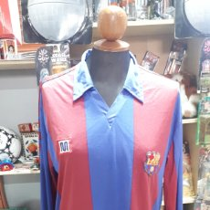 Coleccionismo deportivo: CAMISETA FC BARCELONA BARCA BARSA MEYBA MANGA LARGA TALLA M. Lote 195007145