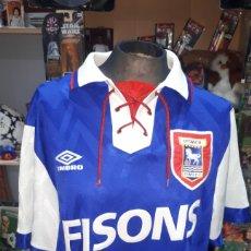 Coleccionismo deportivo: ANTIGUA CAMISETA UMBRO FC TOWN IPSWICH PUBLICIDAD FISONS TALLA L. Lote 195035456
