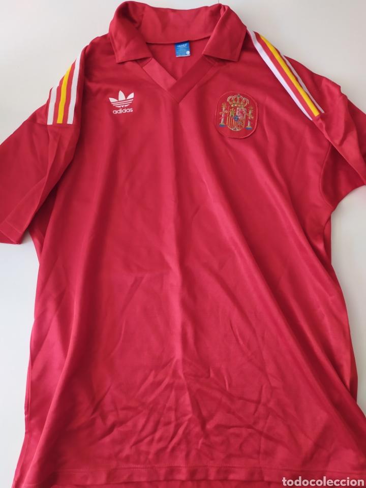 MATCH WORN ESPAÑA CLASIFICACIÓN EURO 92 (VENDIDO) (Coleccionismo Deportivo - Ropa y Complementos - Camisetas de Fútbol)