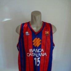 Coleccionismo deportivo: CAMISETA BALONCESTO FC KAPPA DORSAL 15 BANCA CATALANA. Lote 195455493