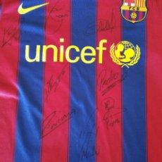 Coleccionismo deportivo: FC BARCELONA 2009 ( VALDÉS , PUYOL , MILITO , XAVI , INIESTA , PEDRO , HENRY Y MESSI.). Lote 196653897