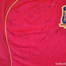 Coleccionismo deportivo: SELECCIÓN ESPAÑOLA EUROPEO 2008 ( VILLA , RAMOS , ALONSO ). Lote 196654458