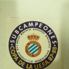 Collectionnisme sportif: RCD ESPANYOL SUB CAMPEON UEFA BRUGGE VIKTOVICE INTER MILAN STICKER PEGATINA . Lote 197230123