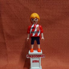 Coleccionismo deportivo: PLAYMOBIL CUSTOM FUTBOL AFICIONADO DEL GIRONA ( 1= 8 - 3 = 20 ) COMBINABLE PLAYMOBIL CUSTOM . Lote 200322485