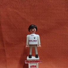 Coleccionismo deportivo: PLAYMOBIL CUSTOM FUTBOL AFICIONADO DEL ALBACETE ( 1= 8 - 3 = 20 ) COMBINABLE PLAYMOBIL CUSTOM . Lote 200322926