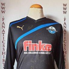 Coleccionismo deportivo: CAMISETA FUTBOL SC PADERBORN 2011-2012 PUMA SIGNED FIRMADA. Lote 202945368