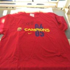 Coleccionismo deportivo: CAMISETA F.C BARCELONA CAMPEONES LIGA 2004 - 2005 FIRMADA POR DECO. Lote 27115951