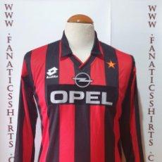 Coleccionismo deportivo: A.C MILAN 1994-1995 CAMISETA FUTBOL CALCIO LOTTO. Lote 204123476