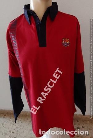 ANTIGÜA CAMISETA / POLO / SUDADERA - MANGA LARGA -- F.C. BARCELONA - ORIGINAL TALLA L (Coleccionismo Deportivo - Ropa y Complementos - Camisetas de Fútbol)