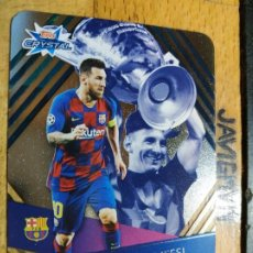 Coleccionismo deportivo: CHAMPIONS 2019 2020 TOPPS CRYSTAL CARDS Nº 122 LIONEL MESSI BARCELONA. Lote 222288328