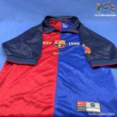 Coleccionismo deportivo: CAMISETA CENTENARIO FCB - BARCELONA - 1899 -1999 - NIKE - MADE IN PORTUGAL - TALLA S - USADA. Lote 204974193