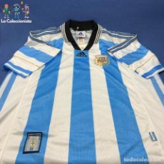 Coleccionismo deportivo: CAMISETA SELECCIÇON ARGENTINA - AFA - MUNDIAL 1998 - TALLA L - MADE IN ARGENTINA - USADA - ADIDAS. Lote 204975160
