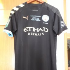 Coleccionismo deportivo: CAMISETA VERSION PLAYER MANCHESTER CITY CARABAO CUP. STERLING. Lote 205679208