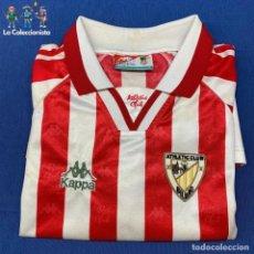 Coleccionismo deportivo: CAMISETA DE FUTBOL ATHLETIC CLUB BILBAO - KAPPA - TEMPORADA 95- 97 - ESCUDO LINEAS AMARILLAS. Lote 205814017