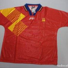 Coleccionismo deportivo: CAMISETA OFICIAL ORIGINAL SELECCION ESPAÑOLA JOHN SMITH AÑOS 90 NUEVO CON SUS ETIQUETAS TALLA XL. Lote 206248083