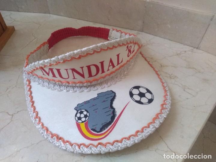 ANTIGUA VISERA A ESTRENAR MUNDIAL 82. AUTENTICA (Coleccionismo Deportivo - Ropa y Complementos - Camisetas de Fútbol)