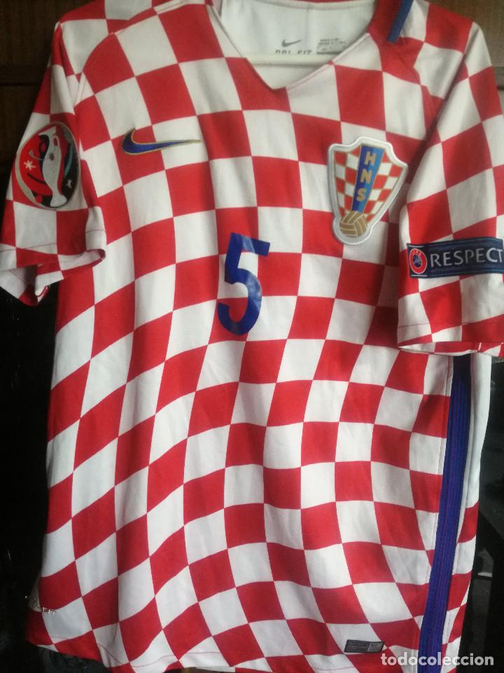 HRVATSKA CROATIA MATCH WORN M TRIKOT CAMISETA FUTBOL FOOTBALL SHIRT MAGLIA (Coleccionismo Deportivo - Ropa y Complementos - Camisetas de Fútbol)