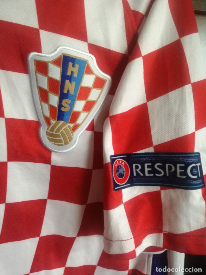 Coleccionismo deportivo: HRVATSKA CROATIA MATCH WORN M trikot camiseta futbol football shirt maglia - Foto 3 - 211845010