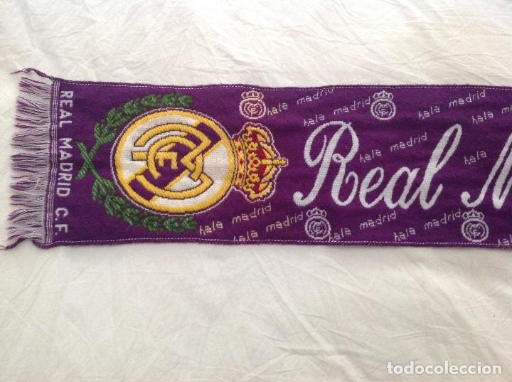 BUFANDA REAL MADRID AÑOS 90 (Coleccionismo Deportivo - Ropa y Complementos - Camisetas de Fútbol)