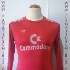 Coleccionismo deportivo: BAYERN MUNICH 1984-1985 CAMISETA FUTBOL ADIDAS COMMODORE. Lote 214555375