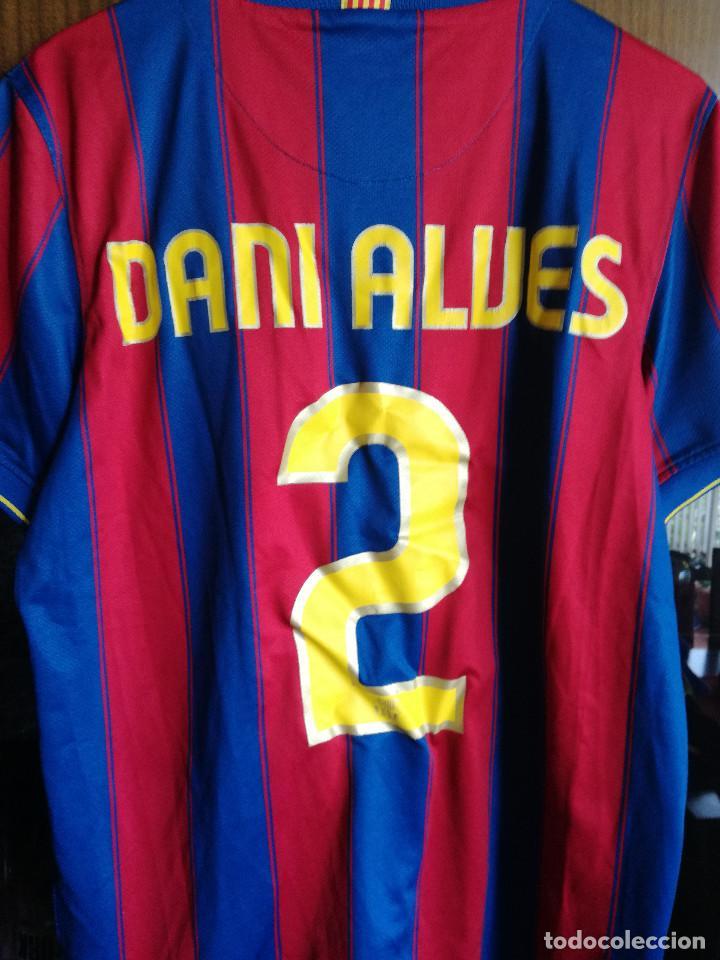 Coleccionismo deportivo: DANI ALVES FOR PLAYERS L FC BARCELONA Camiseta futbol football shirt - Foto 2 - 214716057