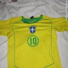 Coleccionismo deportivo: CAMISETA SELECCIÓN BRASILEÑA NÚMERO 10 RONALDIÑHO. Lote 217837528
