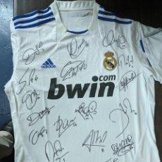 Coleccionismo deportivo: REAL MADRID CAMISETA 7 RONALDO ADIDAS TALLA L CAMPEONES DE COPA 2010-11 21 FIRMAS ORIGINALES. Lote 218123131