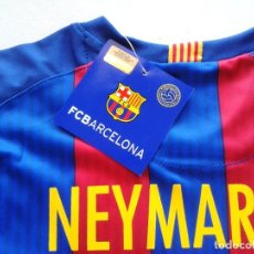 Coleccionismo deportivo: CAMISETA T-SHIRT FC BARCELONA OFICIAL NEYMAR JR BRASIL TALLA 6 AÑOS NEW 100 % R9. Lote 218204731