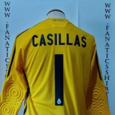 Coleccionismo deportivo: #1 CASILLAS REAL MADRID 2009-2010 GOALKEEPER CAMISETA NEW. Lote 218963682