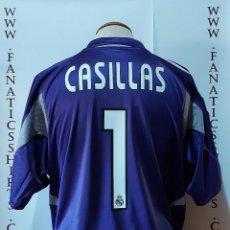 Coleccionismo deportivo: #1 CASILLAS REAL MADRID 2004-2005 AWAY CAMISETA NEW ADIDAS. Lote 218968460
