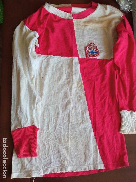 VERY RARE VINTAGE 1970 DEPORTIVO DE LA CORUÑA CE SABADELL CD RETRO S FOOTBALL SHIRT CAMISETA FUTBOL (Coleccionismo Deportivo - Ropa y Complementos - Camisetas de Fútbol)