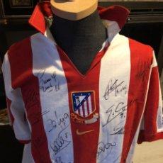 Coleccionismo deportivo: CAMISETA CENTENARIO ATLETICO DE MADRID FIRMADA JUGADORES 2003. Lote 220283647