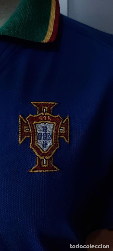 Coleccionismo deportivo: Seleccion Portugal 1997 Away Camiseta Futbol Nike - Foto 2 - 222074272